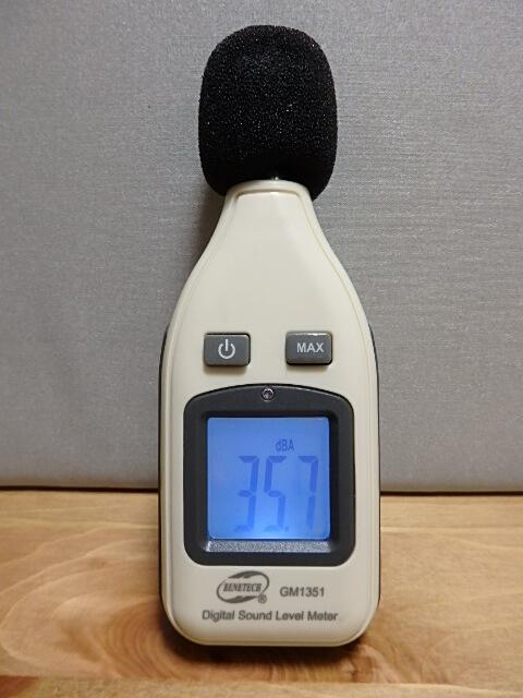 サンコー 小型デジタル騒音計 RAMA11O08 表示