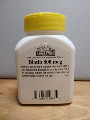 21st Century, ビオチン, 高効力, 800 mcg, 110錠