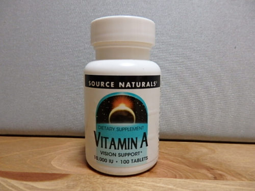 Source Naturals, ビタミン A, 10,000 IU, 100 タブレット