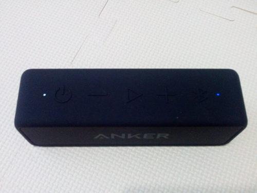 AnkerポータブルBluetoothスピーカー SoundCore 2 スイッチ 上 音量