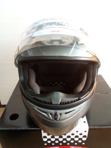 OGK Kabuto FF-R3 ガンメタ 正面 シールド開