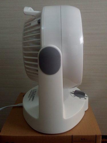 アイリスオーヤマ サーキュレーター 静音 固定 ~8畳 ホワイト PCF-HD15N-W 横から
