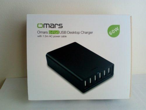 Omars USB充電器 ACアダプター 6ポート60W 外箱