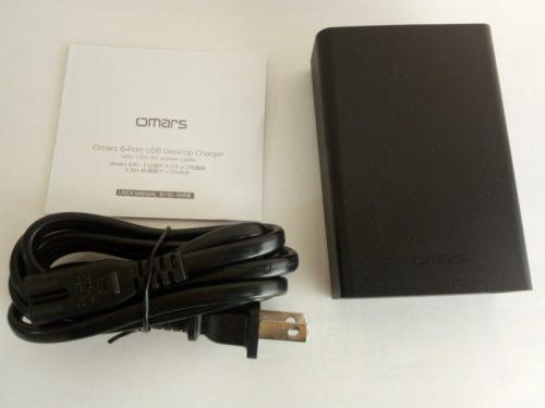 Omars USB充電器 ACアダプター 6ポート60W 付属品など