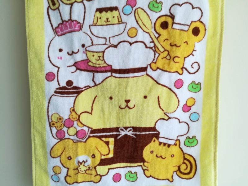 ポムポムプリンちゃんのバスタオル。しまむらで購入。