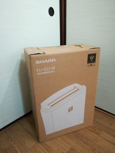 シャープ プラズマクラスター空気清浄機 FU-G51外箱