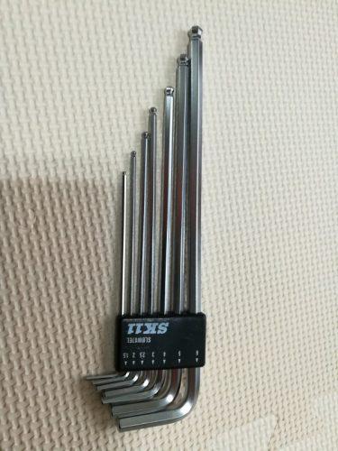 SK11 ボールポイント六角棒レンチセット ミリサイズ 7本組 傾斜角度 約25度 エキストラロング SLBW07EL 本体