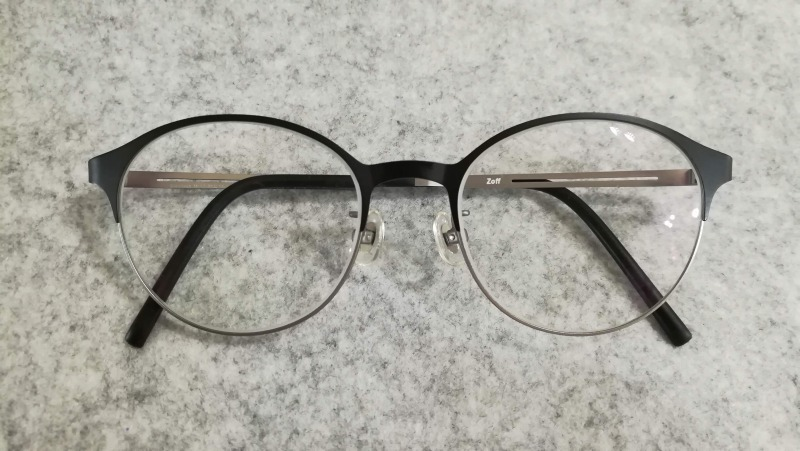 zoffのメガネ プリズムで遠近両用