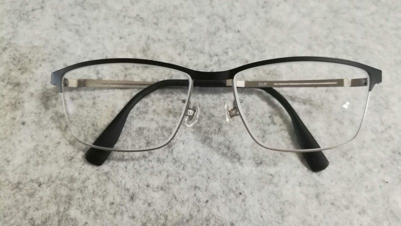 zoffでプリズム眼鏡を作った。スクエアタイプ