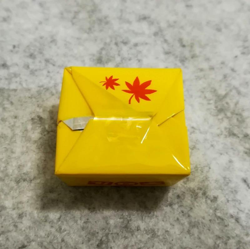 チロルチョコ ほくほく安納芋 黄色のパッケージ 裏面