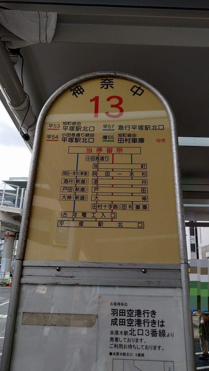 本厚木駅南口のバス停