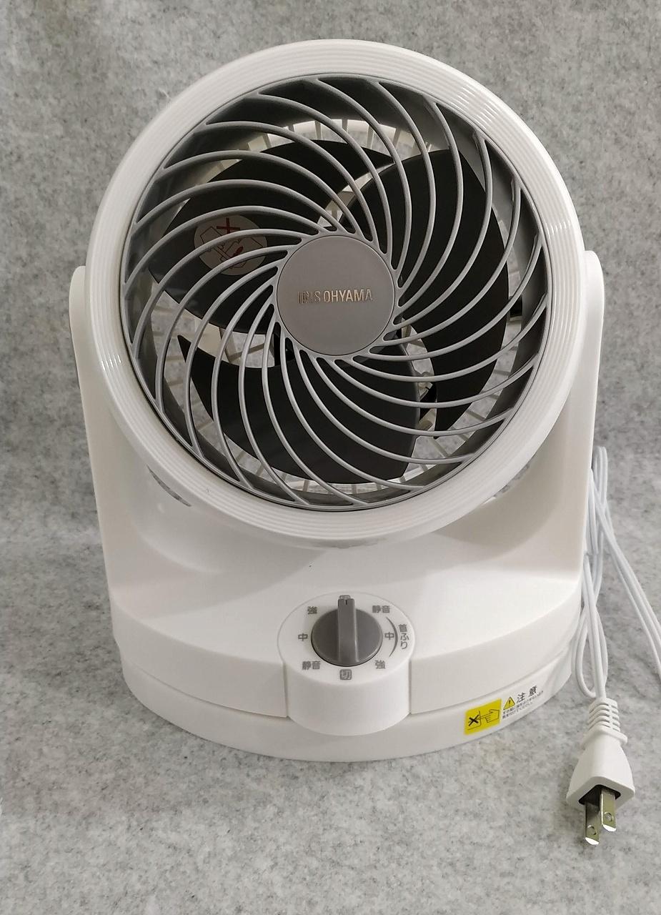 アイリスオーヤマ サーキュレーター 静音 左右首振り 8畳 パワフル送風 ホワイト PCF-HD15-W